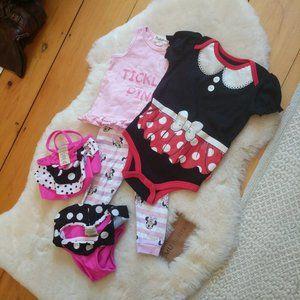 Disney Minnie Mouse 18m 5 Piece Bundle Swim Suit